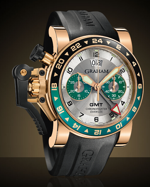 Graham London Chronofighter Oversize GMT Steel & Gold / Gold - 2OVGR.S06A Men Copy Watch