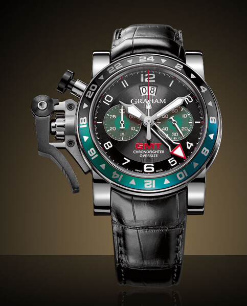 Graham London Chronofighter Oversize GMT Steel - 2OVGS.B12A Men Copy Watch
