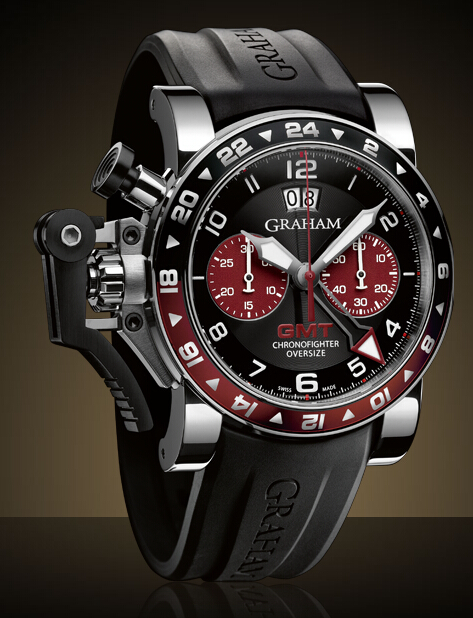 Graham London Chronofighter Oversize GMT Steel - 2OVGS.B20A Men Copy Watch