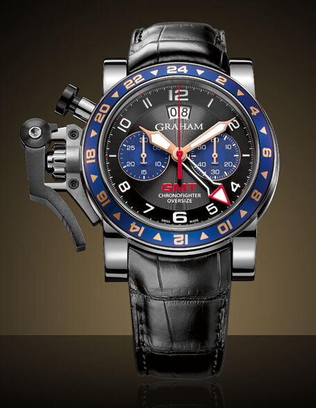 Graham London Chronofighter Oversize GMT Steel - 2OVGS.B26A Men Copy Watch