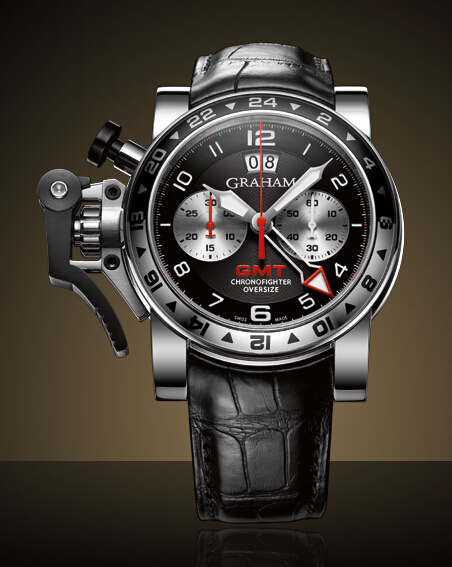 Graham London Chronofighter Oversize GMT Steel - 2OVGS.B39A Men Copy Watch