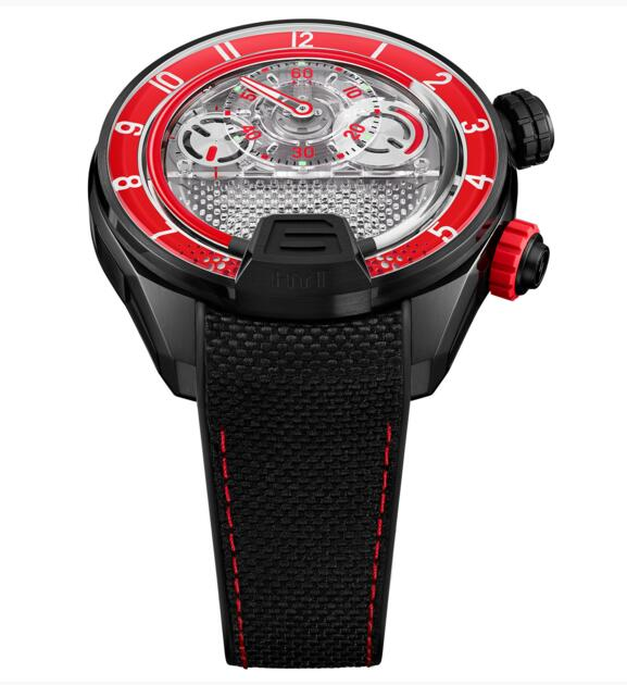 Cheap Luxury Replica HYT H4 Red Fluid 512-TD-68-RF-RN watch