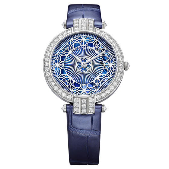 Discount Harry Winston PREMIER PEARLY LACE AUTOMATIC 36MM White gold watch replica