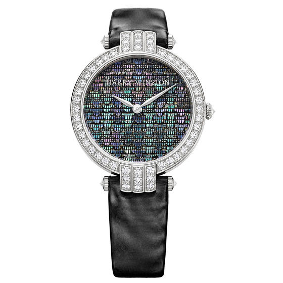 Discount Harry Winston PREMIER PRECIOUS WEAVING AUTOMATIC 36MM White gold watch replica