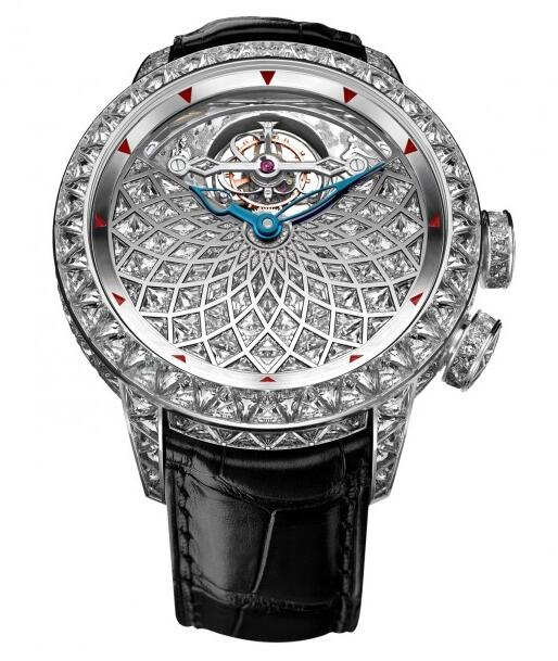 Buy Replica Jacob & Co Caligula Tourbillon Baguette 400.801.30.BD.BD.1BD watch
