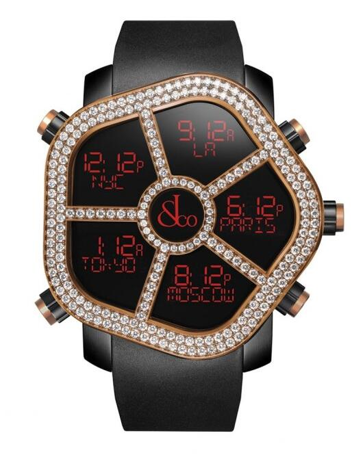 Buy Jacob & Co Ghost Two Rows Rose Gold replica watch