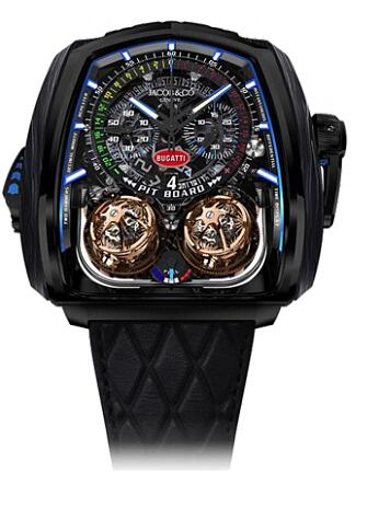 Replica Jacob & Co. Watches Grand Complication Masterpieces Twin Turbo Furious Bugatti TT200.21.AA.AA.A
