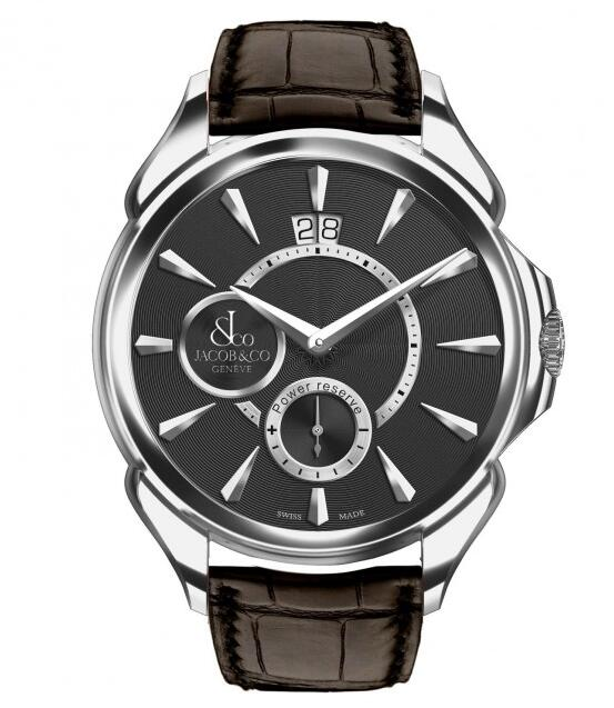 swiss luxury Jacob & Co. Palatial Classic Manual Big Date Steel Case 100.400.10.NS.NK2.1NS watch for sale