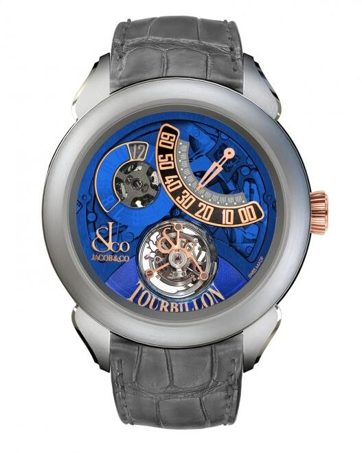 luxury replica Jacob & Co. Mechanical Complications Palatial Tourbillon Jump Hour 150.510.24.NS.PB.1NS watch