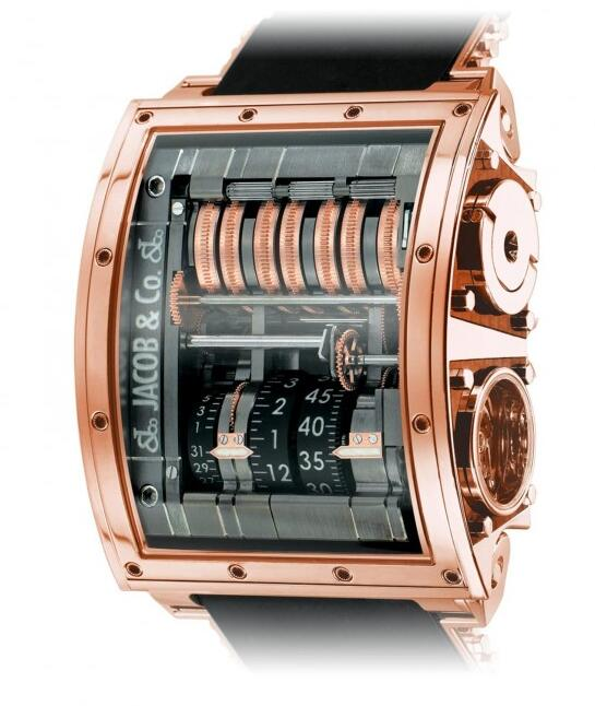 luxury replica Jacob & Co. Quenttin Tourbillon Rose gold watch