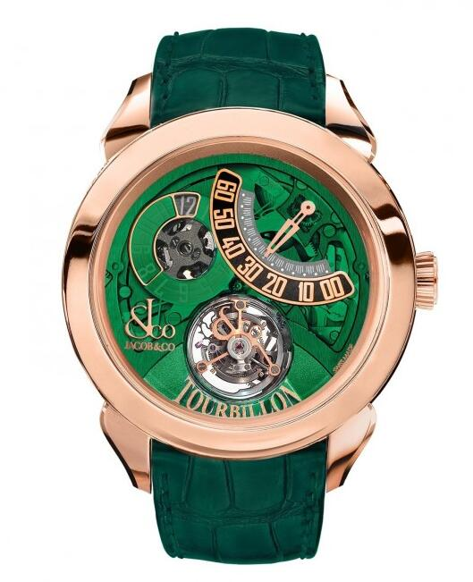 swiss luxury Jacob & Co. Palatial Tourbillon Jump Hour 150.510.40.NS.PG.1NS watch for sale