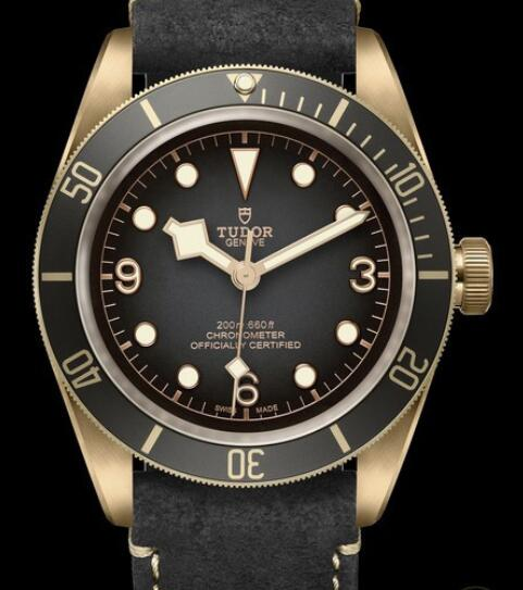 Tudor Replica Watch Black Bay Bronze M79250BA-0001 Bronze - Slate-grey Dial - Strap Nubuck Leather