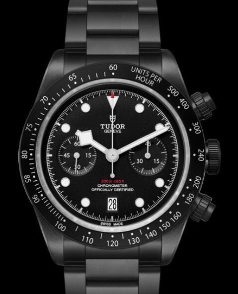 Tudor Replica Watch Black Bay Chrono Dark M79360DK-0001 Steel - Steel Bracelet