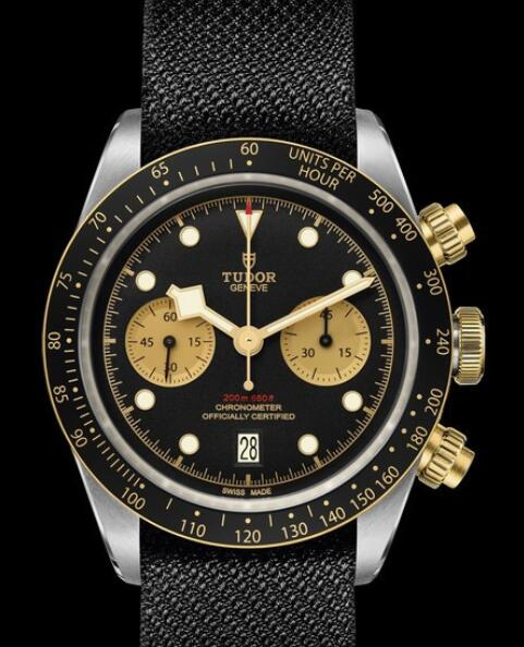 Tudor Replica Watch Black Bay Chrono S&G M79363N-0003 Steel - Black Dial - Strap Fabric