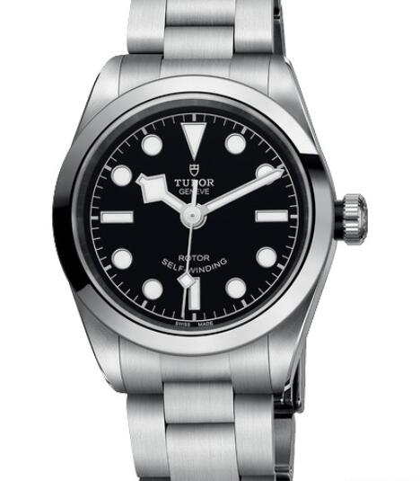 Replica Tudor Watch Women BLACK BAY 32 M79580-0001 Steel - Black Dial - Steel Bracelet