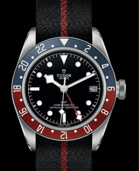 Replica Tudor Watch BLACK BAY GMT M79830RB-0003 Steel - Black Dial - Black Fabric Strap