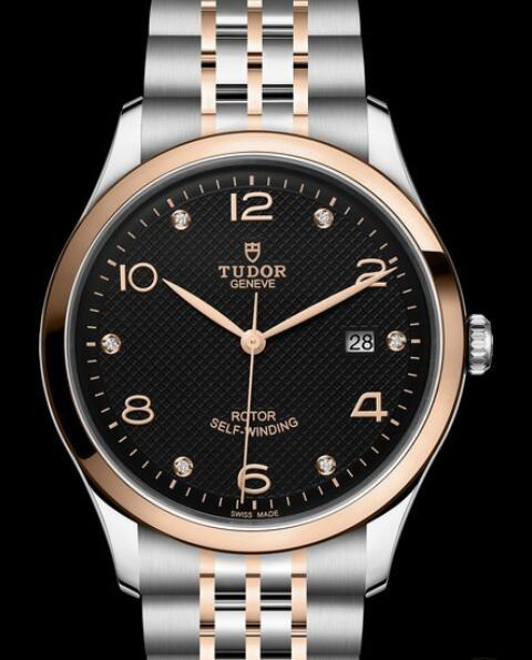 Replica Tudor Watch TUDOR 1926 en 41 mm M91651-0004 Steel - Black Dial - Steel Bracelet - Gold