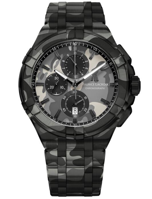 Maurice Lacroix Aikon Chronograph Camouflage 44 mm AI1018-PVB02-336-1 watches review