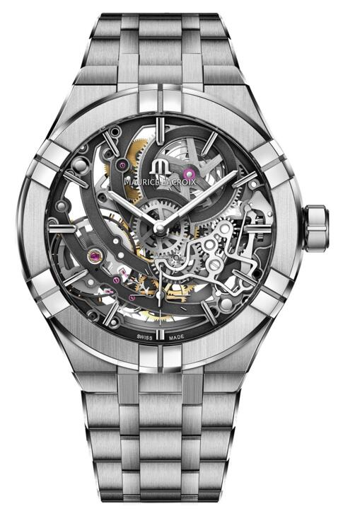 Maurice Lacroix Aikon Automatic Skeleton Manufacture 45 mm AI6028-SS002-030-1 watches for sale