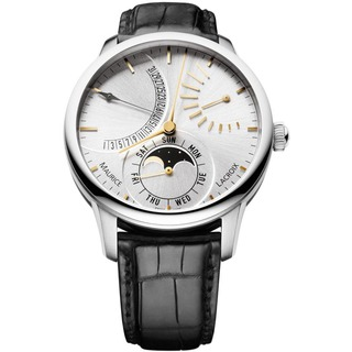 Maurice Lacroix Masterpiece Lune Retrograde Steel Watch Review-MP6528-SS001-130-001