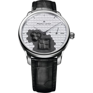 Replica Maurice Lacroix Watch Masterpiece Roue Carree Seconde Cube Steel MP7158-SS001-909