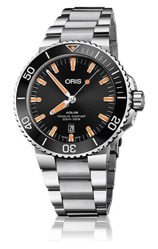 Replica ORIS AQUIS DATE BLACK ORANGE ON BRACELET 01-733-7730-4159-07-8-24-05peb watch for sale