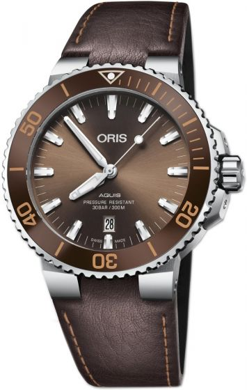 luxury Replica ORIS AQUIS DATE BROWN DIAL watch 01 733 7730 4152-07 5 24 12EB