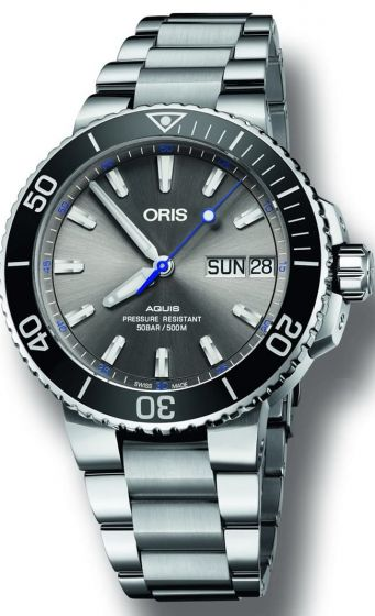 luxury Replica ORIS AQUIS HAMMERHEAD LIMITED EDITION ON BRACELET watch 01 752 7733 4183-Set MB
