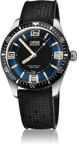 Discount ORIS DIVER SIXTY FIVE BLUE DIAL ON RUBBER STRAP watch 01-733-7707-4035-07-4-20-18