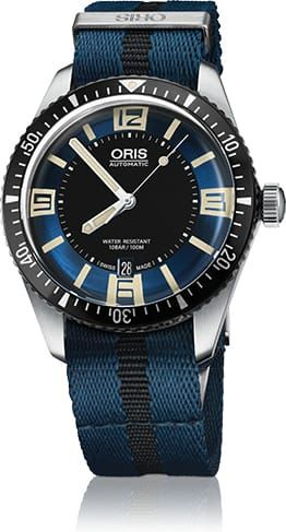 Discount ORIS DIVER SIXTY FIVE BLUE DIAL ON NATO STRAP watch 01-733-7707-4035-07-5-20-29FC