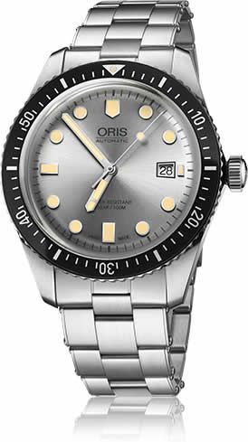 Discount ORIS DIVERS SIXTY-FIVE SILVER DIAL ON BRACELET watch 01-733-7720-4051-07-8-21-18