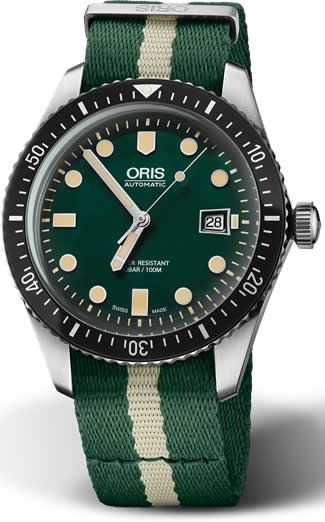 Discount ORIS SIXTY FIVE DIVER GREEN DIAL 01 733 7720 4057-07 5 21 24FC watch