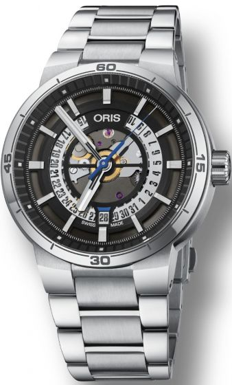 ORIS TT1 ENGINE DATE ON BRACELET 01 733 7752 4124-07 8 24 08 Replica watch