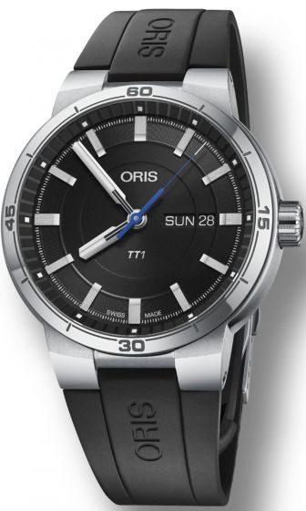 ORIS TT1 DAY DATE BLACK DIAL 01 735 7752 4154-07 4 24 06FC Replica watch