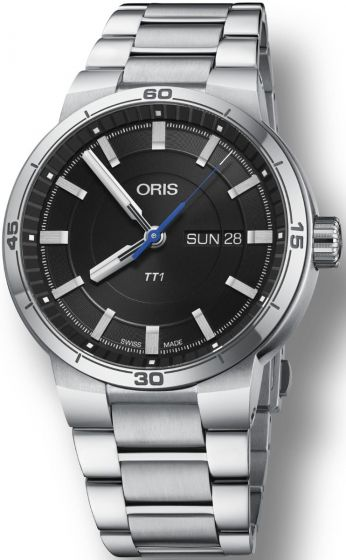 ORIS TT1 DAY DATE BLACK DIAL ON BRACELET 01 735 7752 4154-07 8 24 08 Replica watch