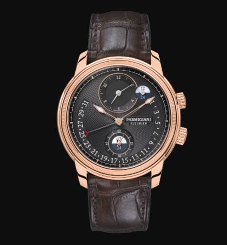 Parmigiani Fleurier Toric Hemispheres Retrograde Replica Watch PFC493-1000200-HA1242