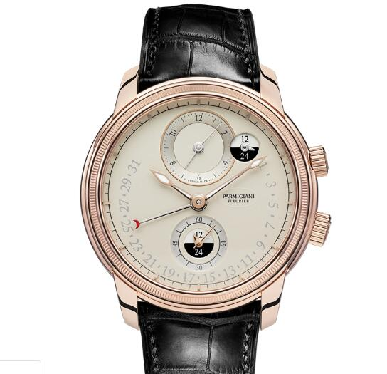 Parmigiani Fleurier Toric Hemispheres Retrograde Replica Watch PFC493-1002400-HA1442