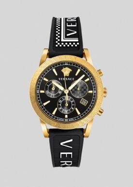 Cheap Versace Watches Price Review 90s Vintage Logo Sport Tech Watch Replica sale for Women PVELT001-P0019
