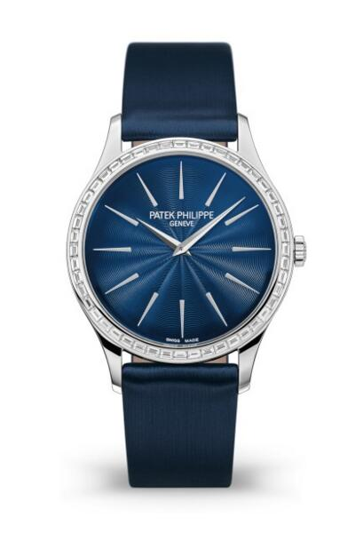 Cheap Patek Philippe Calatrava Diamond Night Blue Ladies Watch 4897/300G