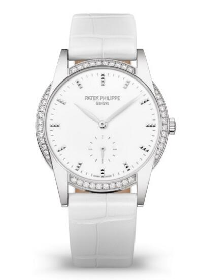 Cheap Patek Philippe Calatrava White Gold Diamond Ladies Watch 7122/200G-001