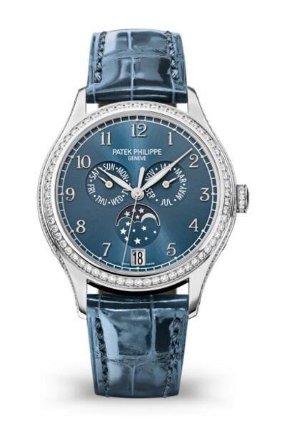 Buy Patek Philippe Replica Complications Diamond Blue Dial Watch 4947G-001