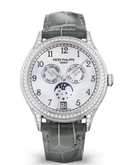 Buy Patek Philippe Replica Complications Diamond White Gold Ladies Watch 4948G-010