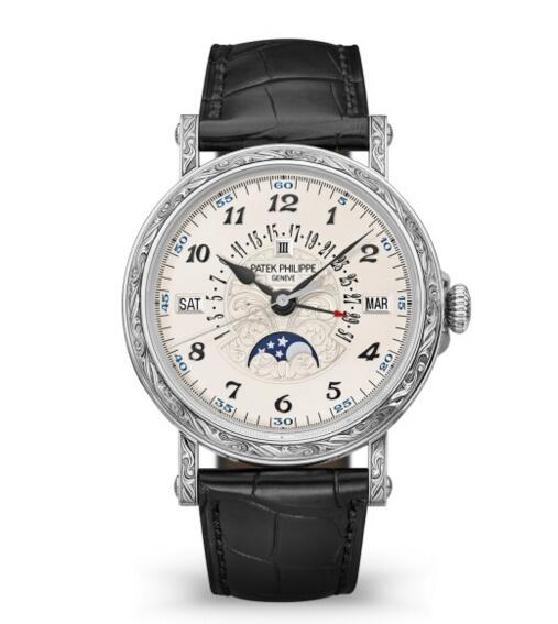 Buy Patek Philippe Grand Complications Engraved Perpetual Calendar 5160/500G-001 watch Price