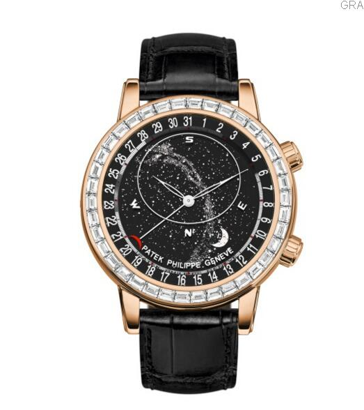 Patek Philippe replica Grand Complications Diamond & Rose Gold Celestial 6104R-001