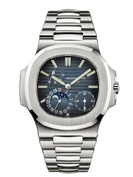 Cheap Patek Philippe Nautilus Moon Phase Stainless Steel Watch 5712/1A-001