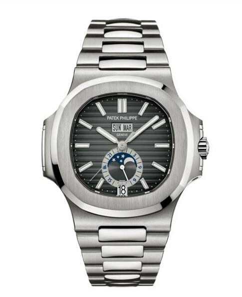 Cheap Patek Philippe Nautilus Black Dial Stainless Steel Watch 5726/1A-001