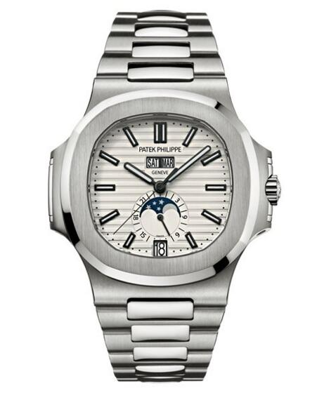 Cheap Patek Philippe Nautilus White Dial Stainless Steel Watch 5726/1A-010