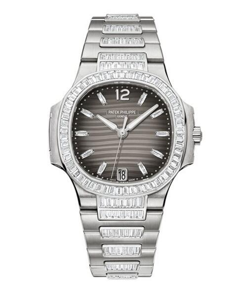Cheap Patek Philippe Nautilus Automatic White Gold Ladies Watch 7014/1G-001