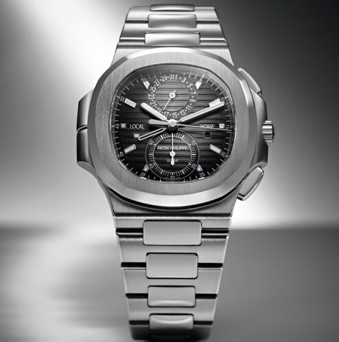 Replica Patek Philippe Nautilus Travel Time Chronograph 2014 Ref 5990 Steel 5990/1A-001 replica Watch
