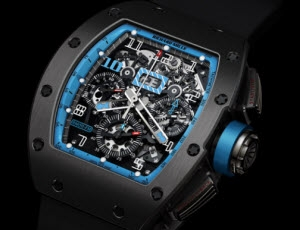 Replica Richard Mille RM 011 Argentina Black (Black Ti/Blue) Watch